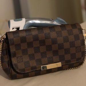 Louis Vuitton Favorite Mm Damier Ebene Canvas Bag